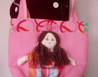 Bag for little girl doll