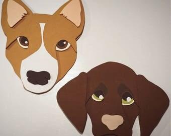 CUSTOM DOG ART, Wood Wall Art Decor, Custom Pet Wall Hanging, Room Decor, Custom Wood Art