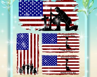 American Flag Svg | American Flag with Soldiers | Svg | Flag Dxf | Flag   | Soldier Flag | Fallen Soldiers | Digital Files | Flag Bundle