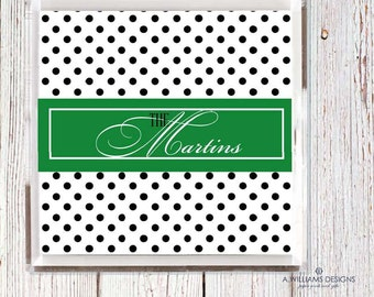 Personalized Polka Dot Lucite Tray-Acrylic Tray/ Personalized  desk organizer Tray/ custom catch all Home Decor in two sizes 6x6-12x12