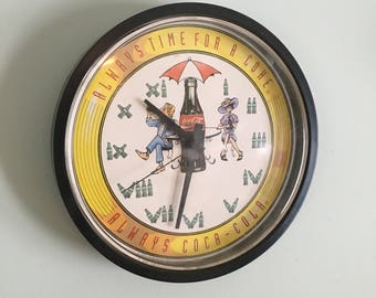 1994 Coca-cola wall clock, Always Time for a Coke, Always Coca-Cola
