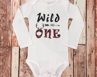Wild and One Shirt, Wild and One Onesie, Personalized Onesie, First Birthday Shirt
