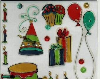 Birthday Magic Scraps Scrapbook Stickers Embellishments Cardmaking Crafts