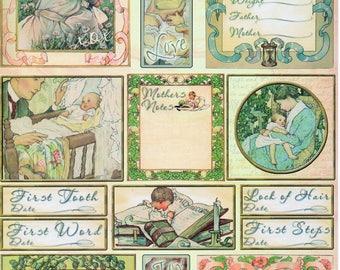 Baby Memories Heartwarming Vintage Cuts Crafty Secrets Scrapbook Embellishments Card Making