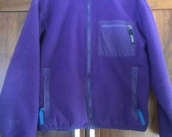 Patagonia Zip Up Pocket Pullover Fleece Zip Jacket Size 10 Size Small