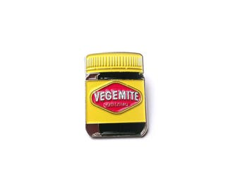 VEGEMITE Australian Pin Enamel Large lapel Pin Gift