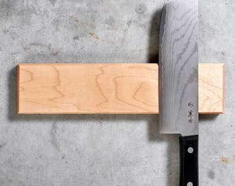 Magnetic Knife Rack - New England Maple Wood, Rare Earth Magnets, Multiple Sizes Available