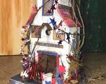 Birdhouse 4th of July Independence Day Bird House