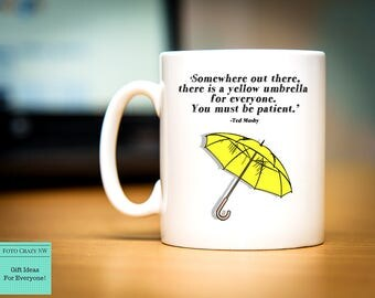 How I Met Your Mother Inspired | TV Show | Mug Gift | Yellow | Umbrella | Ted Mosby