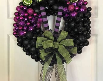 Halloween Wreath, Halloween, Witch Wreath, Fall Wreath, Door Swag