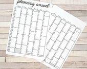 Stickers planning annuel 2018 pour Planner et Bullet Journal