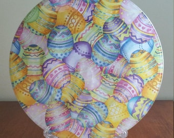 """Pastel Easter Eggs 10"""" Round Plate"""