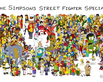 The Simpsons Street Fighter Special Poster