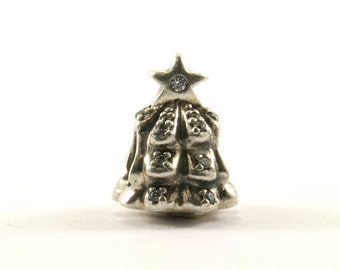 Vintage Authentic Pandora Christmas Tree #791239 Bead Charm Sterling 925 CH 1-E