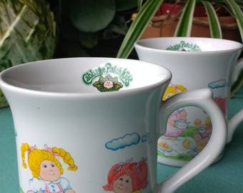 Set of Cabbage Patch Kid mugs