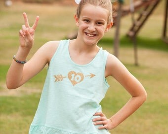 10th birthday girl shirt, 10 year old birthday tank, tenth birthday outfit