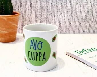 Avocado Mug - Avo Cuppa - Ceramic Mug - Stocking Filler - Secret Santa - Avocado Gift - Avocado Present