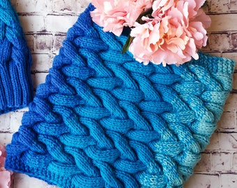 Three colour awesome winter knitting, very nice round scarf for kids
