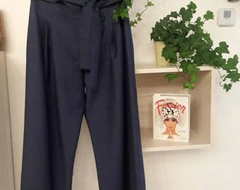 SALES 20% OFF palazzo pants in linen bow belt