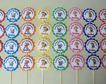32 - PAW PATROL  personalized, cupcake toppers, birthday,  party favors