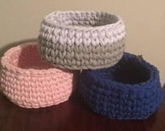 Crochet Baskets Medium