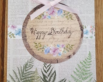 Happy Birthday Card - Woodland Style (II)