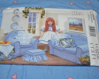 Vogue 9504 Linda Carr Vogue Doll Collection Furniture Sewing Pattern - UNCUT