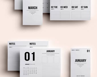 Passport TN Insert | Passport TN Printable | Passport TN Printable Insert | Passport Insert January - March 2018