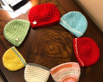 crochet baby hat, baby beanie, crochet baby cap, baby hat, baby cap,  baby shower gift, newborn hat, preemie cap, warm cap, soft warm hat