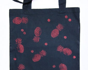 Tote Bag pineapple (Navy)