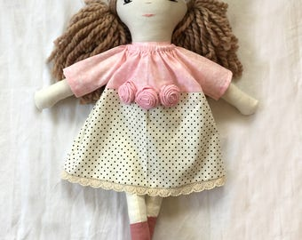 Sparkles and Dots Handmade Doll