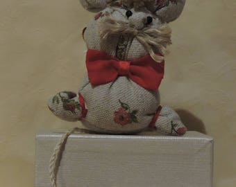Pip the Mouse, cloth stuffed animal, handmade, stuffed mouse