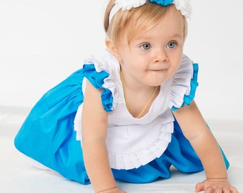 Baby Girl/Toddler Alice in Wonderland dress dress, Princess Party Dress, Birthday Party dress, Photo shoots Dress