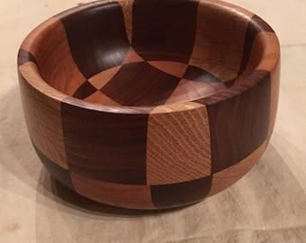 Checkerboard Candy Dish