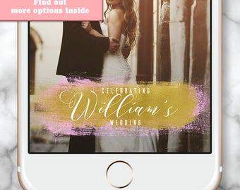 Custom Snapchat Filter, Wedding snapchat filter, Wedding snap chat filter gold, Wedding snapchat geofilter, Wedding Geofilter, Gold Filter