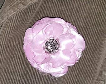 Pink Flower Pin,Pink Flower Brooch,Fabric Flower Brooch,Fabric Flower Pin,Decorative Pin,Corsage,