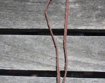 Hemp-Wrapped Unakite Choker