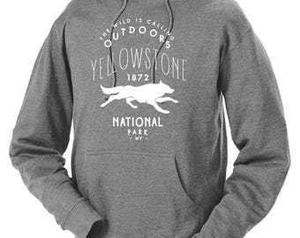 Yellowstone National Park Wolf Adventure Unisex Hoodie