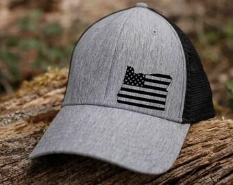 Oregon   American flag hat
