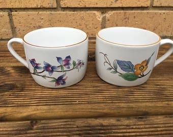 Floral teacups - Woodhill - Vintage retro - mug, cup - afternoon tea - flower pattern