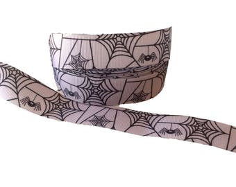"7/8"" Lavender Spider Web ~ Grosgrain Ribbon ~ Halloween"