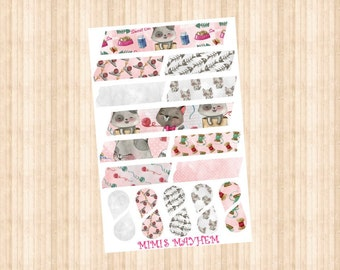 Kitty Washi Strips & Drops // Happy Planner // Erin Condren //Personal