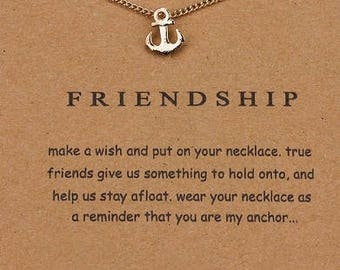 Friendship - Dogeared Charm Necklace- Gold- Small Anchor Charm- Jewelry Gift- Love and Friendship