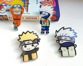Naruto Pins | Kakashi & Naruto