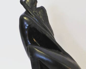 1980's Austin Production Incorporated Art Sculpture of Two Kissing Lovers Swept Away
