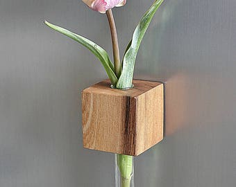 Fridge Magnet vase Elm magnetic vase flower vase test tube vase