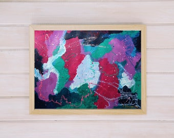 Dream Paths 42x30cm Original Abstract Painting