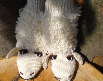 Originals warm wool Socks-sheeps Funny socks Gift for her Home slippers Leg Warmers Gifts on Christmas Cool Sock Slippers Cozy Slippers