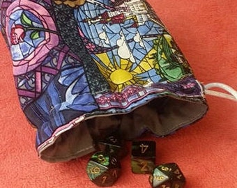 Beauty and the Beast Dice Bag