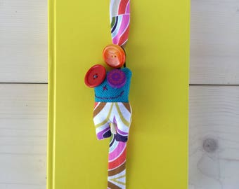 Multicolored Lavandillo bookmark with painted wooden eye